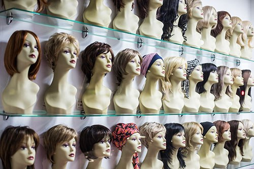 Cancer Treatment Tips - 3 Shelves of a Wig Store